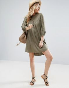Buy it now. ASOS Casual Smock Shirt Dress - Green. Dress by ASOS Collection, Linen-rich fabric, Collarless design, Button placket, Half-length sleeves, Relaxed fit, Machine wash, 56% Linen, 44% Viscose, Our model wears a UK 8/EU 36/US 4 and is 176cm/5'9.5 tall. ABOUT ASOS COLLECTION Score a wardrobe win no matter the dress code with our ASOS Collection own-label collection. From polished prom to the after party, our London-based design team scour the globe to nail your new-season fashion…