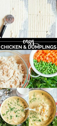 Chicken and Dumplings - Spaceships and Laser Beams Cream Of Celery Soup, Cream Of Chicken Soup, Healthy Foods To Eat, Healthy Recipes, Frozen Dumplings, Homemade Chicken And Dumplings, Oven Chicken Recipes, Dumpling Recipe, Garlic Powder