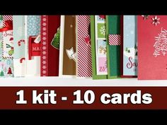 Step by step video on creating 10 Christmas cards using the December card kit by SimonSaysStamp.com BLOG POST: https://goo.gl/Cz8BeL ——— S U P P L I E S (exp...