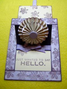 POP UP SLIDER CARD OPEN by Glamour - Cards and Paper Crafts at Splitcoaststampers