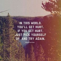 Just pick yourself up and try again by syafinarislan