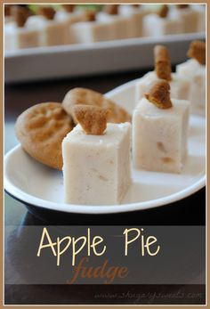 Apple Pie Fudge #holidayentertaining #thanksgiving #givingthanks #november #holidays #thanksgivingideas #thanksgivingcrafts #thankful #thanks #thanksgivingrecipes www.gmichaelsalon... #diy #crafting #recipes #forthehome #holidaydecorating #holidaydecor #harvest #autumn