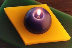 Brazilian flag candle
