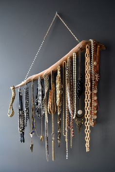 A stick, some string, & a few nails can create quite the masterpiece for your party! Great if you're low on table space & would like some wall decor.
