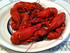 Succulent Whole Maine Lobster.    Boiled and finished on the grill.