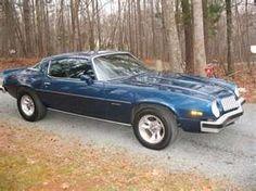 Blue 1977 Camaro