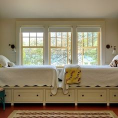 For the Boys' Room Someday? Kids Room. Twin Beds with Storage. Home Design, Pictures, Remodel, Decor and Ideas