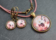 Ohrhänger - Schmuckset Kette & Ohrringe bronze - ein Designerstück von colorful-daydreams bei DaWanda