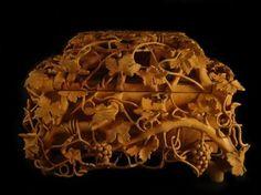 Jewelry box by Nairi Safaryan, single block of pear wood.