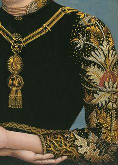 Portrait of a Lady, detail, Unknown Artist, c.1490