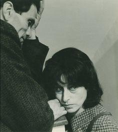 """""""@ric_annamagnani: MERAVIGLIOSA fotografia dell'Archivio Fotogr. della Cineteca di Bologna, #AnnaMagnani e #Pasolini """""""