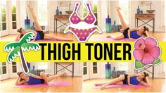 This is the ultimate thigh slimming, leg toning workout - perfect for your summer bikini and cut-off jean shorts! I've got 4 moves for you at 2 min each. It's 8 minutes of thigh sculpting torture! Don't worry, you'll love.