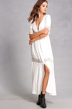 Indika Floral Lace Maxi Dress  More hippie vibes