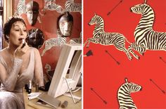 Wes Anderson-inspired wall paper for your home.