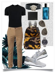 my bf's style🙈😋 by shashya on Polyvore featuring polyvore, Dolce&Gabbana, Urban Pipeline, New Balance, OMEGA, Valentino, Paul Smith, Versace, Davidoff, Oris, men's fashion, menswear, clothing, style and man