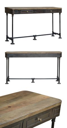 Add a handsome dash of old-fashioned style to any traditional or casual space with this Hamlin Console Table. Gorgeously made from mango wood and antiqued metal, this elegant piece will prove a charmin...  Find the Hamlin Console Table, as seen in the Breaking News Collection at http://dotandbo.com/collections/breaking-news?utm_source=pinterest&utm_medium=organic&db_sku=114774