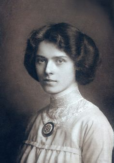 Serene Young Woman. ca. 1900