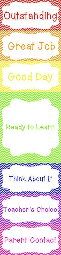Chevron Clip Chart! - GREAT classroom management tool   Printable- http://www.teacherspayteachers.com/Product/Cute-Chevron-Clip-Chart