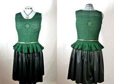 Woman crochet blouse, scoop neckline, sleeveless, perfect handmade peplum top, ready to wear, chic day wear/office wear/ joyous party outfit