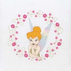Floral Tinkerbell Cross Stitch Kit Stitch Craft Create craft supplies