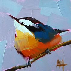 """Red Breasted Nuthatch no. 15"" - Original Fine Art for Sale - © Angela Moulton"