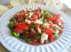 Feta Dip. SO EASY! I get asked for the recipe EVERY time I make it. #semihealthy #fresh