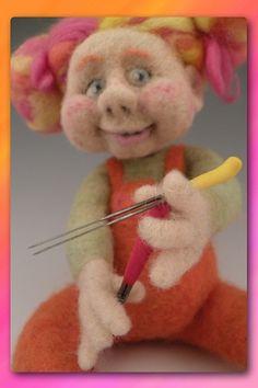 needle felting instruction & supplies