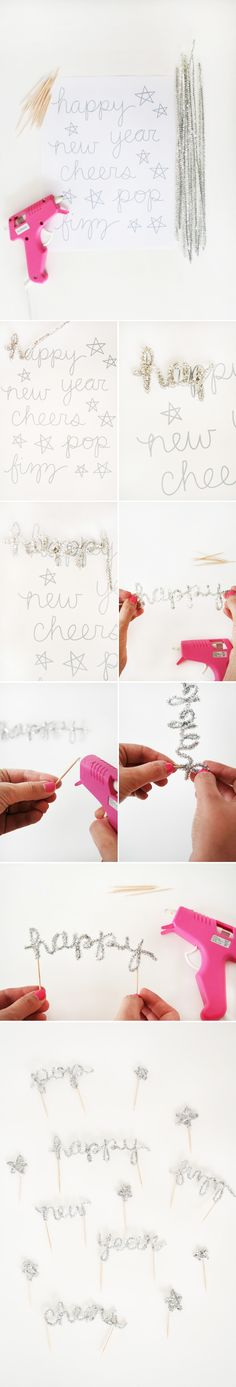 How to Make New Years Eve Cake Toppers DIY New Years Eve Cake Topper