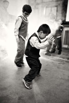 He's really heating up the dancefloor!   http://brds.vu/uLM84o