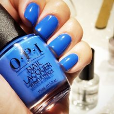 OPI Tile Art To Warm Your Heart ... Love this blue. DIY Mani