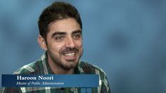 """During his time at the Monterey Institute, MPA student Haroon Noori, from Kandahar, Afghanistan, has been involved in many exciting activities. He advises others to get involved as well, and to seek out different experiences in order to maximize their time in Monterey.  He likes the Monterey Institute, because it's such a small school and everyone comes from a different background. He says that """"makes it very unique."""" http://youtu.be/oIggbBO0Muw"""