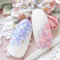 Glam Nails, Beauty Nails, Simple Nail Designs, Nail Art Designs, Spring Nails, Summer Nails, Water Color Nails, Vintage Nails, Nail Photos