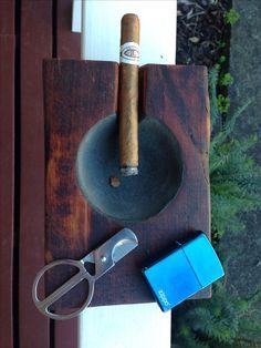 #zippo # cigar #ashtray #woodwork #diy