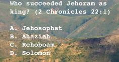 Who succeeded Jehoram as king?