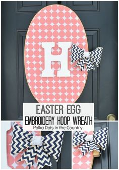Embroidery Hoop Easter Egg ~ adorable!