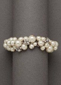 Pearl Cluster Bracelet Style DBW-P09185-B01  Longer Length  SALE -  In Store Only  $30.00