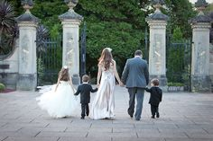 This is adorable! At your 5,10 more anniversary. Include your children all dressed up on wedding attire.