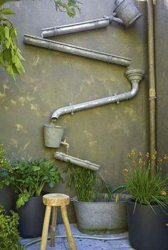 Rainwater art