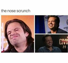 The wonderful nose scrunch! Love that!
