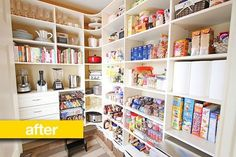 Pantry Before & After: A Laundry Room Becomes a Super Organized Pantry — Pantry Makeover | The Kitchn