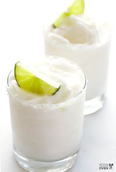 This frozen coconut margarita recipe is refreshing, sweet, and delicious.   gimmesomeoven.com