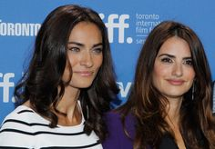 """Saadet Aksoy and Pen?lope Cruz attend the """"Twice Born"""" Photo Call during the 2012 Toronto International Film Festival at TIFF Bell Lightbox on September 2012 in Toronto, Canada. Pink Carpet, Penelope Cruz, International Film Festival, Photo L, Beautiful People, Dads, Hair Color, Actresses, Celebrities"""
