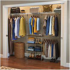 44 Ideas deep closet organization bedroom wardrobes for 2019 Coat Closet Organization, Home Office Organization, Closet Storage, Organization Ideas, Closet Shelves, Storage Room, Deep Closet, Closet Rod, Girl Closet