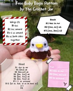 Congratulations to @littleloveeveryday for winning the giveaway! 🎉🎉🎉 Thanks to everyone who joined and don't be upset if you didn't get to… Crochet Bird Patterns, Crochet Amigurumi Free Patterns, Crochet Birds, Crochet Animals, Crochet Designs, C2c Crochet, Crochet Hats, Kawaii, Crochet Bookmarks