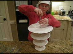 Hanging Cake Stand Upside Down Cake.dv - YouTube