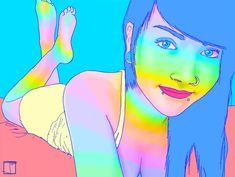 O artista canadense Jean-Francois Painchaud, conhecido por Phazed, é o autor desses psicodélicos e hipnóticos GIFs animados. São ilustrações picantes e sensuais em meio a um arco-íris de cores neon.    Em seu tumblr você pode encontrar mais exempl...
