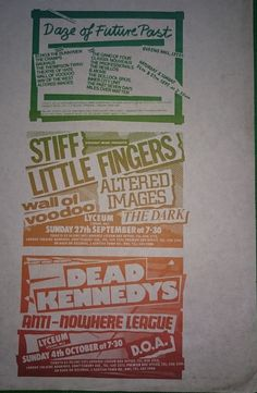 Punk Gig Flyer 1981   Straight Music Presents...   Handed out @ The Lyceum Ballroom London,  Dead Kennedys, Stiff Little Fingers,  Japan by bastarduk on Etsy