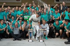Happy times at Mercedes