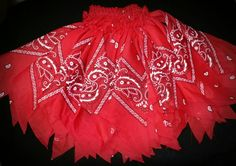 Red Bandana Tutu Set...Available For Custom Orders...Any Color...Any Size! by DivineKidz on Etsy