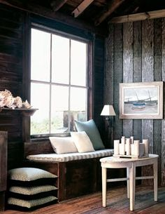 cool rustic window seat